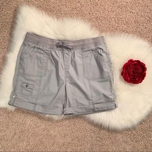 ❤️ Style & Co Sport Silver Gray Pull On Shorts ❤️